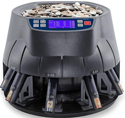 AccuBANKER AB510 Coin Sorter/Coin Roller and Wrapper Machine with MP10 Thermal Printer