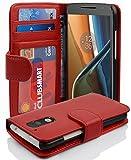 Cadorabo Coque pour Motorola Moto G4 / G4 Plus en Rouge Cerise - Housse Protection avec Fermoire...