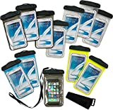 Kicko Waterproof Phone Pouches - 12 Pack - 8 Inch Cellphone Floater - Dry Bag Pouch – Gadget Waterproof Case - Water Activity Cellphone Case for Worry-Free Summer Pool Parties