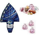 Offerta Pasqua uova al cioccolato fondente'Luisa'.con doppia sorpresa, in omaggio subito 3 baci Rosa Limited Edition