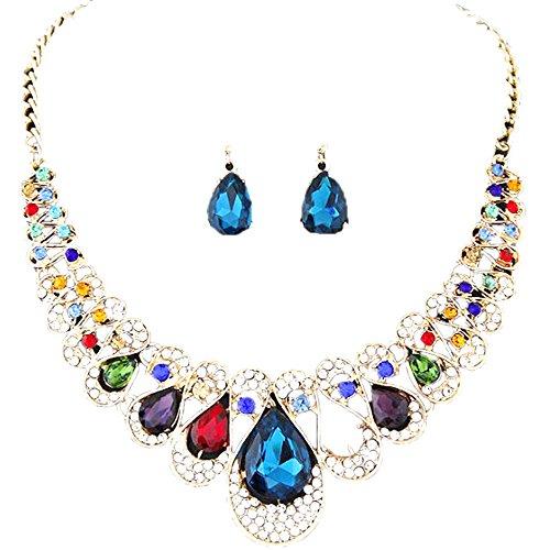 YWLINK Conjunto De Joyas Para Damas Pendientes De Collar Bohemio Accesorios De Fiesta Para Damas Elegantes Y Elegantes
