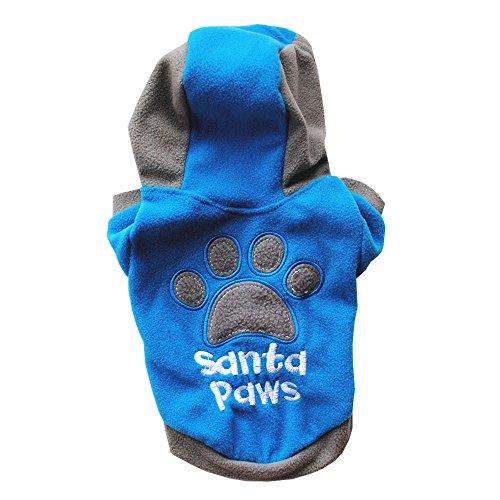 Hawkimin Kleine Haustier Hund Katze Kapuzenjacke, Druckbuchstabe Farbblock Baumwolle Gemischt Rundhalsausschnitt Kurzarm Mode Welpe Sweatshirt Pullover Bekleidung