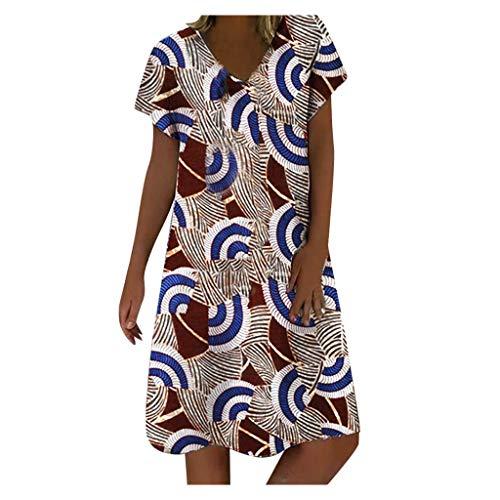 Kleider Damen Sommer Kleiderschrank Abendkleider Lang Kleiderbügel Kleider Maxikleider Damen Kleiderstange Sommerkleider Abendkleider Elegant Für Hochzeit Kleidersack Mädchen Kleider(Blau,XL)