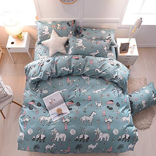 Teen Bedding Boys Girls Animals Print Blue - Full / Queen,Kids Duvet Cover Sets Blue 3 Pieces ( 1...