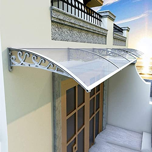 CDDQ Tejadillo de Protección Marquesina para Puertas y Ventanas Puertas de Entrada,Pasillos,Jardines,7 Tamaños,Protección UV de la Lluvia,la Nieve y el Sol