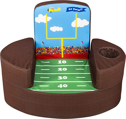 Marshmallow Furniture Flip-See-Do Child's Foam Furniture Toddler Chair for Kids Ages 18 Months and Up, Football