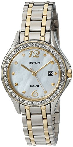 Seiko Women's Quartz Stainless Steel Casual Watch, Color:Two Tone (Model: SUT312)