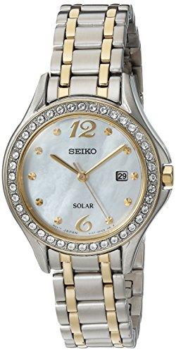 Seiko Reloj analógico para Mujeres de Cuarzo japonés con Correa en Acero Inoxidable SUT312