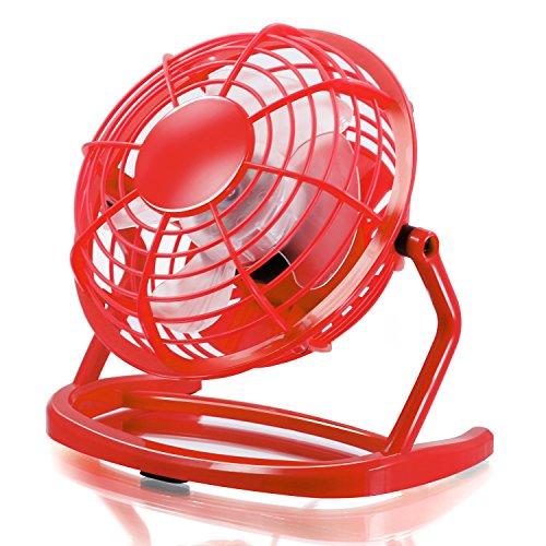CSL - USB Ventilador   mini ventilador de mesa / fan   PC / portátil   en rojo