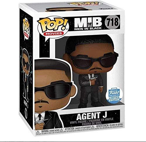 ZGZZ ¡Popular! Figura de Vinilo Coleccionable de Men in Black: Agent-J de la Serie Classic Movies