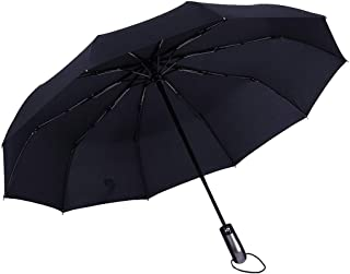 CapsA Compact Travel Umbrella - UV Sun Umbrella Compact Folding Travel Umbrella Auto Open and Close Windproof Reinforced Canopy Ergonomic Handle Auto Open Close Umbrella