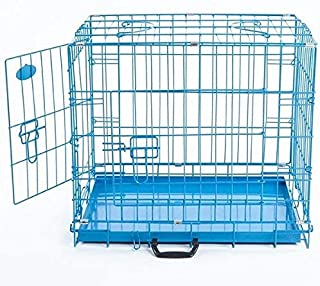 Buyagain Double Door Folding Metal Cage/Crate/Kennel with Removable Tray and paw Protector for Dogs,Cats and Rabbits 30 in...