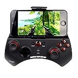 iPega PG-9025 Joypad Bluetooth, supporto telescopic, per Smartphone e Tablet (Android e iOS), Nero