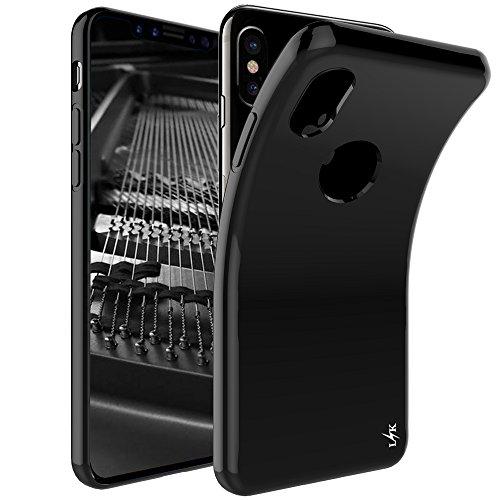 iPhone X Funda, LK Carcasa Cubierta TPU Silicona Goma Suave Case Cover Ultra Fino Anti-Arañazos - Negro