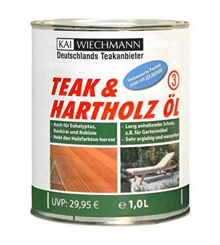 Kai Wiechmann Teak & Hartholzöl Teakpflege 1 Liter Holzimprägnierung & UV-Schutz