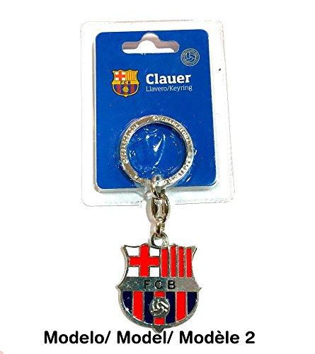 FCB FC Barcelona - Llavero f.c. Barcelona Escudo Plateado (Llavero)