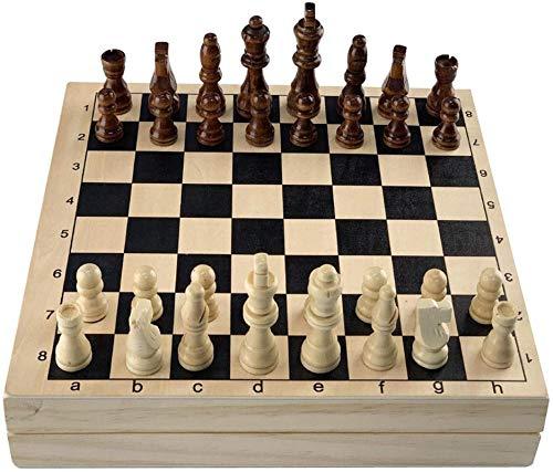 Staunton Chess 2 en 1 Juego de ajedrez Juego de ajedrez y eslinga rápida Puck, Juguete de juego de mesa de Air Hockey, Juguete de juego de mesa de Air Hockey, Juego de Puck Eslinga rápida para niños a