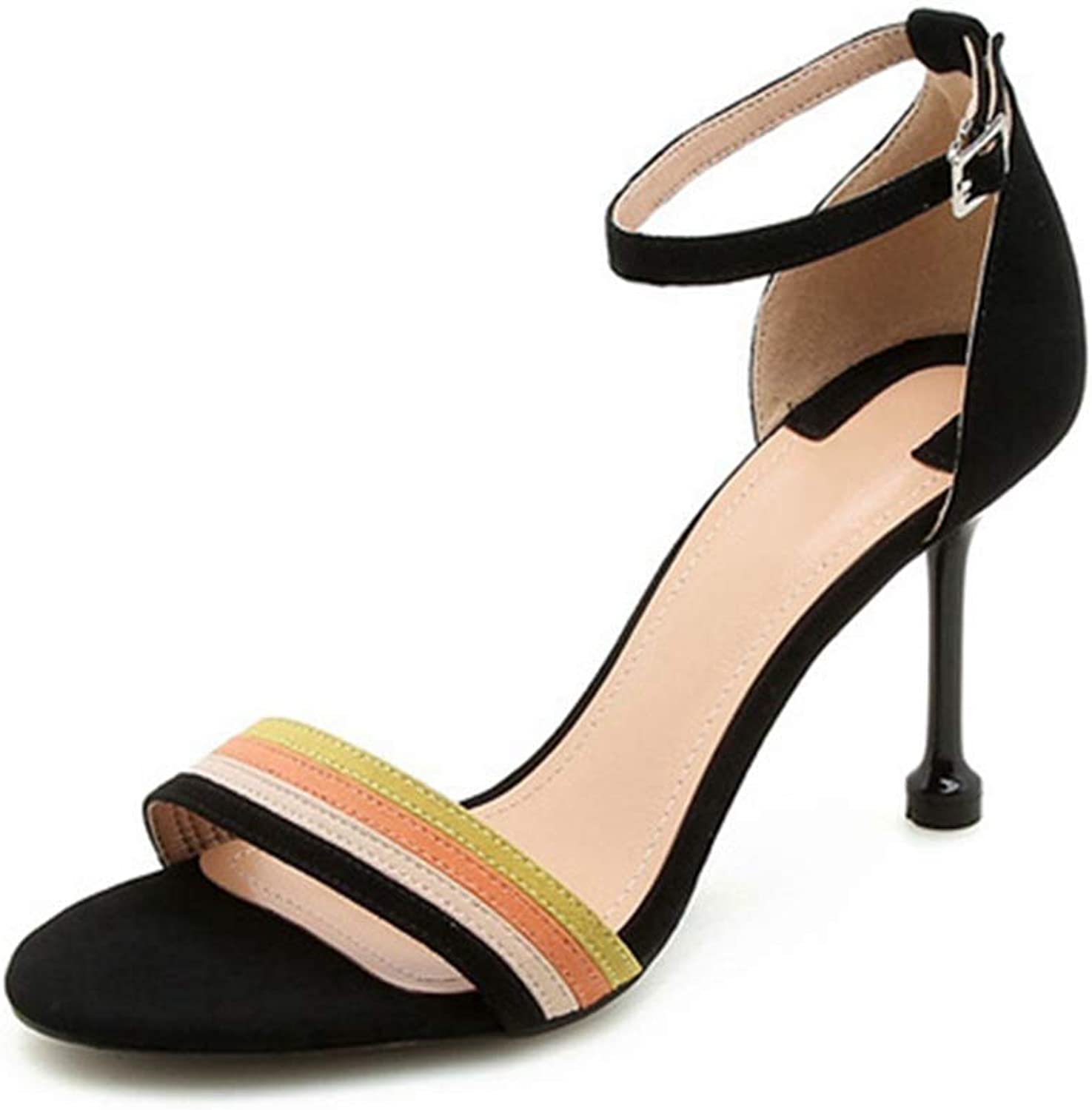 Women Pumps Female Mix color Sexy Party Open Toe Woman Sandals High Heels
