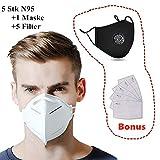 FFP-2 maskid KN-95 reguleeritava ninaklambriga hingamismask (5 tk)
