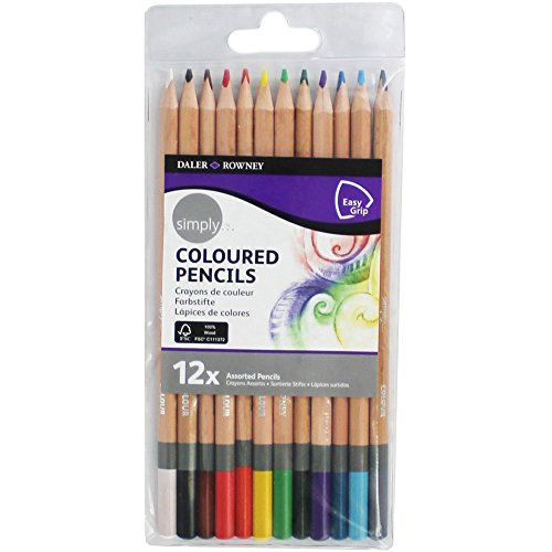 Daler Simply Coloured Pencils - 12 Assorted