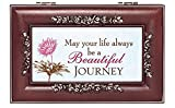 Cottage Garden May Your Life Be a Beautiful Journey Rosewood Jewelry Music Box Plays You are My Sunshine