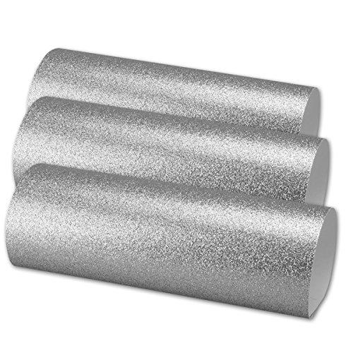 05x Artoz Glitter Papier - selbstklebend - DIN A4 - Silber - glitzerndes Papier - Bastelpapier - Scrapbooking