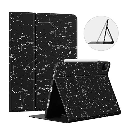 Ayotu Soft TPU Back Cover for iPad Pro 11 Case 2nd Gen 2020 & 2018 with Pencil Holder-Supports Apple Pencil 2 Wireless Charging,Book Cover Design,Multi-Angle Stand,Auto Sleep/Wake, The Horoscope
