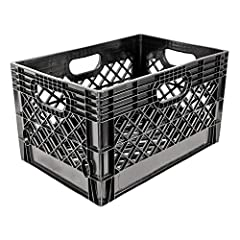 GRIP. Ergonomic handles allow for easy handling and moving. PROTECTION. Smooth internal faces to prevent damage to stored items and open grid-work on all sides to allow for abundant airflow, temperature regulation, product protection, and easy cleani...