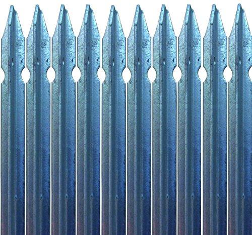 10x PALETTO A T 30x30x3 H. 200 cm IN FERRO zincato a norma PALO PER RECINZIONE