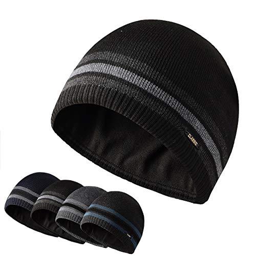 HiRui Knit Beanie Winter Hats for Men Women Kids-Warm Classic Daily Skull Cap (Black)