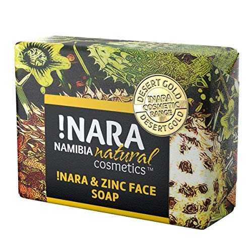 !Nara Bio Naturkosmetik Seife mit Zink 80g milde Öl-Seife zur täglichen Gesichtspflege und Körperpflege mit heilender antibakterieller Wirkung für sehr empfindliche Haut die zu Unreinheiten neigt