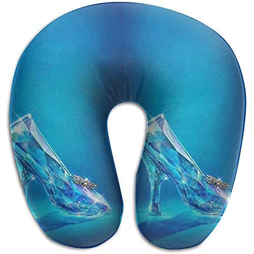 Simone-Shop U-vormig kussen van Cinderella voor nek en schouders – kussen in U-vorm 29 x 30 x 10 cm