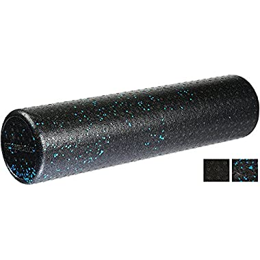 AmazonBasics High-Density Round Foam Roller   24-inches, Blue Speckled