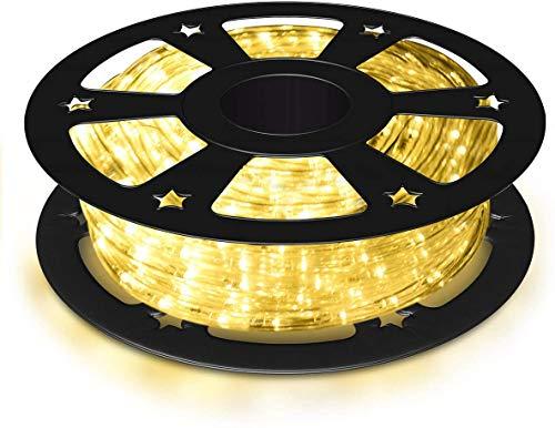 RELAX4LIFE 20 m LED Streifen, Lichtband mit 720 LEDs & Stecker, IP65 wasserdicht, Lichterschlauch für Außen und Innen, LED Strip für Party & Festival, LED-Lichtschlauch 50000h Lichterkette (warmweiß)