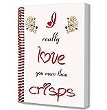 I Love patatine a tema Notepad–San Valentino/anniversario/regalo di compleanno per lui o lei