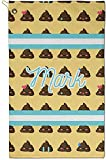 RNK Shops Poop Emoji Golf Towel - Full Print - Small w/Name or Text