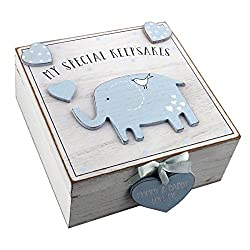 Baby Boy wooden Memories Keepsake Box Vintage Style Beautiful Baby/Christening/Birthday/Christmas Gift. Made from wood this box is an ideal way to store those important keepsakes. The box is hinged for easy opening and comes with a raised heart and v...