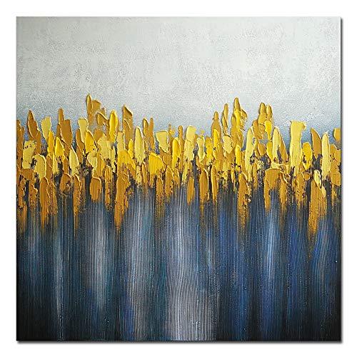 Wieco Art - Dipinto a olio su tela per soggiorno, camera da letto, decorazione moderna, 100% dipinta a mano, Tela, 24x24inch (60x60cm)