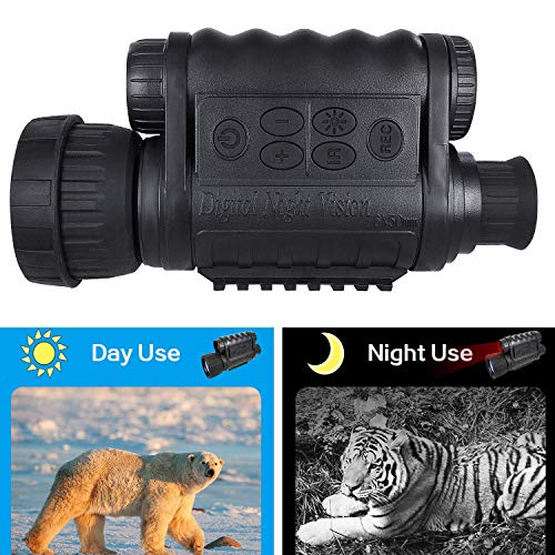 Bestguarder 6 x 50 Digital Nachtsichtgerät 350m Reichweite 5Fach Zoom Nachtsichtmonokular JagdkameraVideo Foto