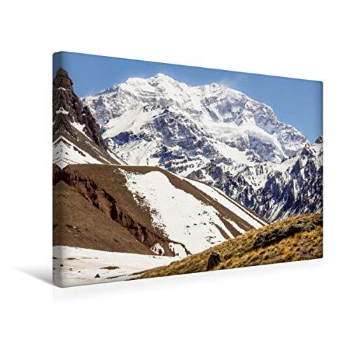 Premium - Lienzo de tela (45 x 30 cm, horizontal), diseño de Aconcagua Gauchos - Anden - Cascadas, diseño de calvendo