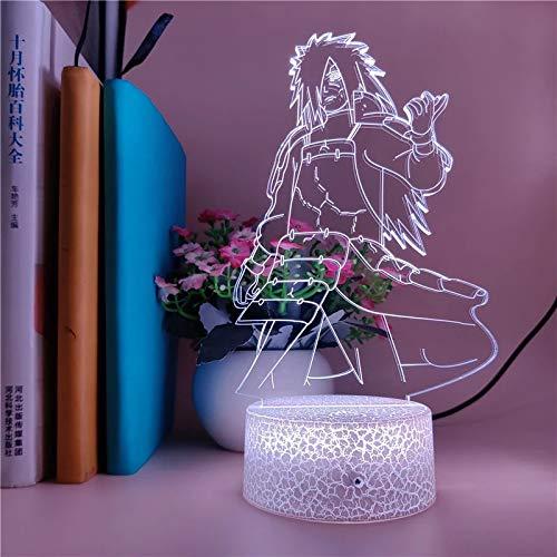 Naruto Character Atmosphere Light LED Lámpara de mesa decorativa 3D LED Atmosphere Light Creative 3D Light Holiday Gift Lámpara de mesa decorativa