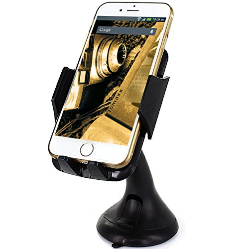 tomaxx Auto Halterung KFZ LKW Autohalterung Auto Halter Holder schwarz kompatibel für Samsung Galaxy S8, Galaxy S8 Plus, LG G6, Huawei P10, P10 Plus, P10 Lite, Apple iPhone 6 6S iPhone 6 Plus 6S Plus, Samsung Galaxy S3 S4 S5 Mini Neo Galaxy S6 S6 Edge Plus, Huawei ShotX Mate S Honor 7 5X Y6 Y5 Nexus 6P P8 Lite G8 Google 5X HTC One M8 M9 A9, LG Nexus 5X G3 G4 mini, Microsoft Lumia 640 550 650 Lumia 950 950 XL, Sony Xperia Z5