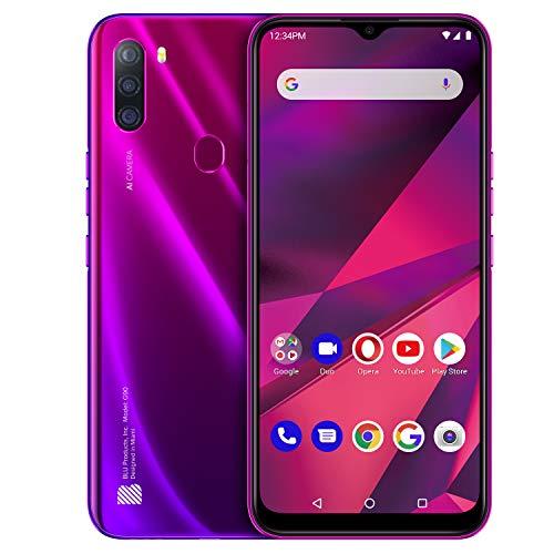 BLU G90 Smartphone (Magenta) - 6,5 Zoll Bildschirm, 64 GB + 4GB RAM, kein Simlock, 4000mAH Akku, Fingerprint (Magenta)