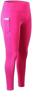 Jinqiuyuan Leggings Sports Women Fitness High Waist Seamless Leggings Push Up Running Yoga Pants Energy Leggings Gym Girl 5 Color XS-2XL (Color : HOT Pink, Size : XL)