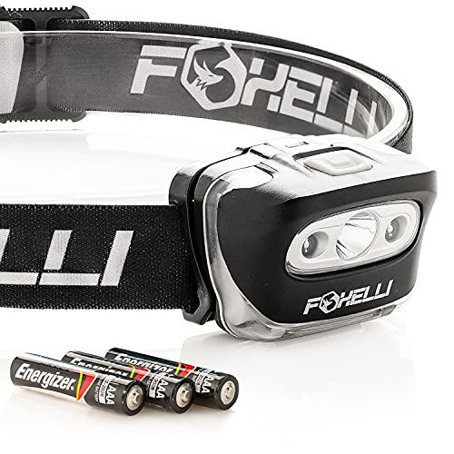 Foxelli Headlamp Flashlight - 165 Lumen,...