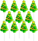 Christmas Tree Lollipops (12 Pack) Great for Christmas Goody Bag Fillers or Christmas Stocking Stuffers
