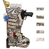 Beyond Your Thoughts New Tactical Christmas Stockings US Military with MOLLE Gear Webbing Durable Christmas Ornament for Family Decorations (Army ACU)