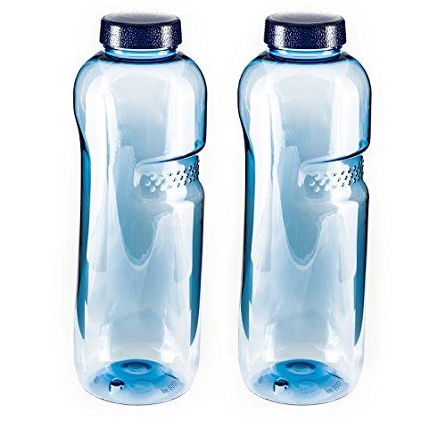 SAXONICA 2er Set - Trinkflasche aus Tritan 1,0 Liter 410201 Sport Kinder Kavodrink BPA frei Wasserflasche