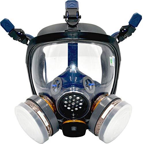 UOPASD Organic Vapor Respirator full face gas mask with Activated Carbon Air Filter