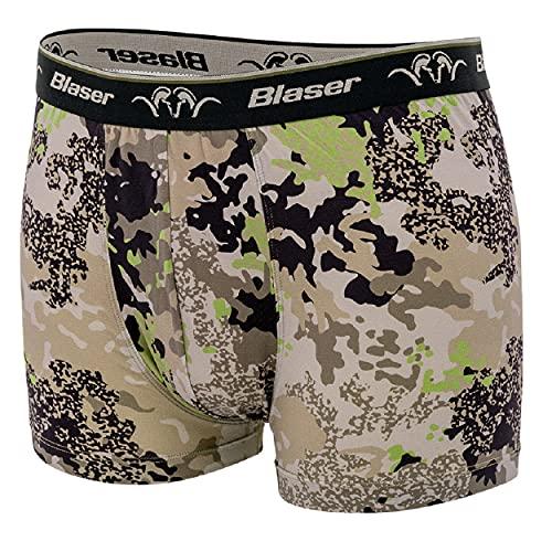 Blaser Shorts Magnum 2.0 HunTec - Unterhose für Jäger Männer Camouflage - Boxershorts für Herren - Boxershort in Patronenschachtel Design , Größe:XL